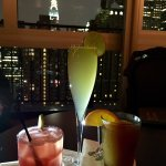 Excellent view of the Chrysler building, great signature cocktails . Rooftop has an outside area