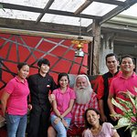 A visit from Santa with the staff.