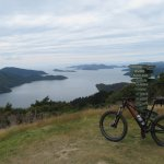 View of Marlborough Sounds from Queen Charlotte Track