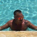 Enjoying the pool and swim up bar