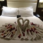 We couldn't afford much more than the room but requested a little romance - it was really nice <