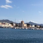 View from the pier in Aegina