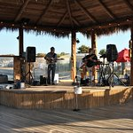 Good music right on the water. This was Sons of Beaches.