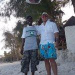 With Jay Jay for a beach walk
