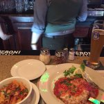 Amazing free range veal parmesan with rigattoni