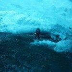 Crawling in a glacier