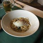 Špagety se špenátem a piniemi - chutné
