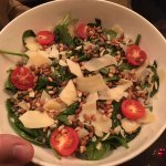Vintage spinach salad