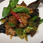 Crispy Pork: ginger red curry stir fried