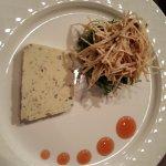 terrine van blauwe kaas met knolselderij salade (lijkt er anders uit te zien, maar hetzelfde)