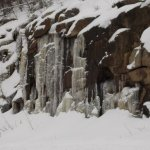 Ice covered granite