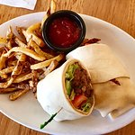Beef & Lamb Shawarma Wrap (with fries)