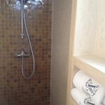1st floor - en-suite bathroom shower to 2 single beds room