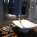 1st floor - basin & mirror in single beds room