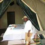 This tent was being inspected to make sure that was ready for our guests.