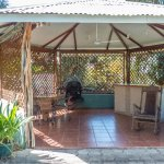 gazebo by the pool with BBQ
