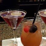 Two Saints martini and Sunrise Sangria