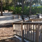 Picnic area, nice gas grills, picnic tables