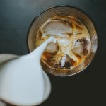 Iced dulce latte, available during summer months.