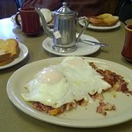 Corned Beef Hash with Basted Eggs