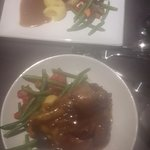 Chef Greg's specials. Lamb shank and duck