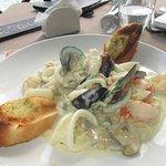 Seafood Linguini- large portion