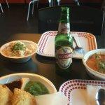 Paneer Makhani, samosas and KF beer!