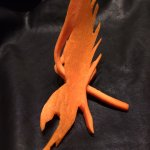 Flying eagle made out of carrot. My 11 y.o. loved it.