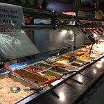 Full and tasty buffet line at Dukes in Blackville, SC