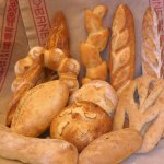The offer different kinds of breads and baguettes.
