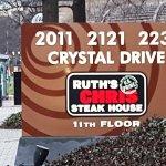 Ruth's Chris - Arlington sign on the street