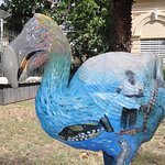 Dodo statue in the garden by the museum