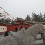 One of the White Horses outside the entrance