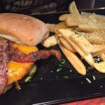 Smoke & pepper burger and upgraded fries