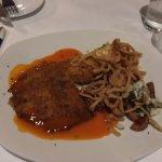 Spicy crunchy tilapia. Very, very good.