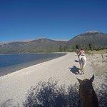 volviendo por la costa del lago Gutierrez