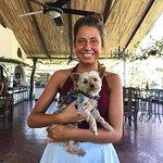 A Hotel intern - Ester - holding my little 'Poppy'!