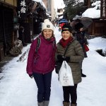 Takayama historic street after local sweet shop visit ☺