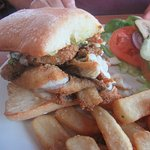 Sand Dab Sandwich, Johnny's Harborside, Santa Cruz, CA