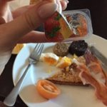 Half used jam in our room service breakfast the morning after our wedding!