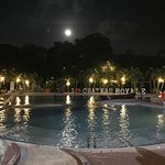 Club House Pool during at Night