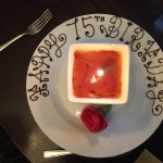 Creme Brûlée with a birthday greeting