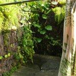 Dusche im Garten