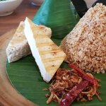 Grilled tofu with spicy rice