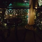 Our own little private balcony at night.