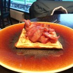Bacon and maple syrup waffle starter