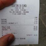 Va bene il cupcake 6 euro...ma un misero biscotto ripieno 10 Euro...mangiato al banco?!nn posso