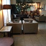 """Área de Recepción y Front Desk de Hosteria Angelina.  ( Febrero de 2017)  Hosteria Angelina""""s Re"""