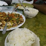 Steam rice with Chilie pork