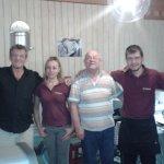 The very friendly hard working staff of Zorba's.
